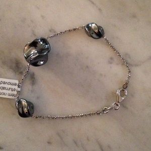 Jewelry - NWT*STERLING SILVER BRACELET WITH MURANO GLASS 8""